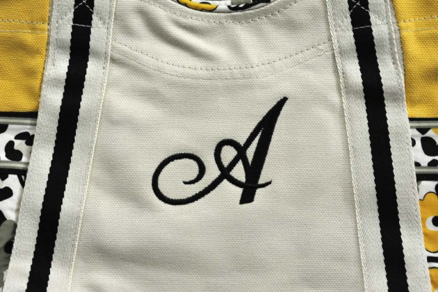 エコバッグへの刺繍