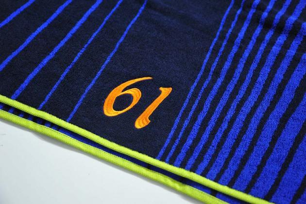 スポーツタオル刺繍