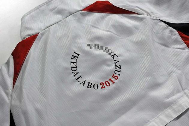 ブルゾン刺繍