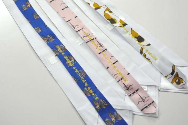 ネクタイ刺繍