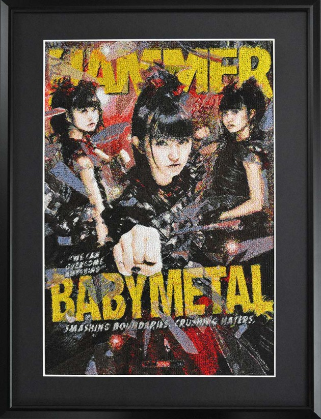 BABYMETAL 刺繍 METAL HAMMER embroidery