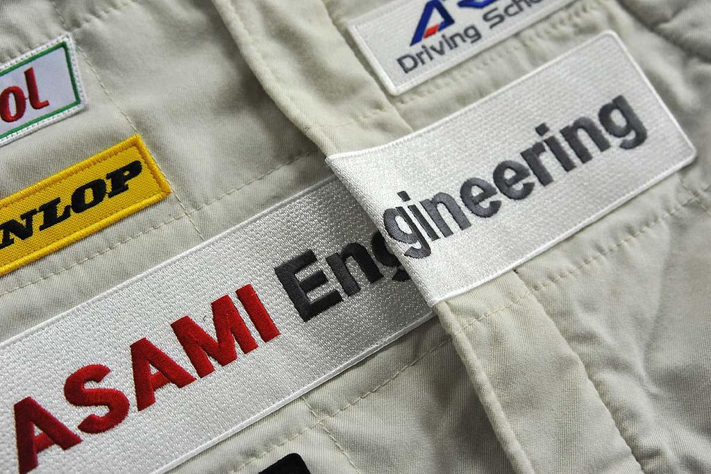 レーシングスーツ刺繍